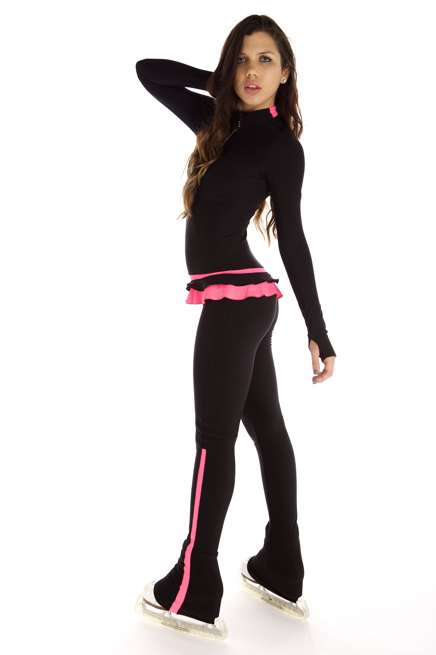 Figure Skating Dresses & Skirts : Thermal Catsuit Rosa ...